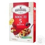 Мюсли Новоукраинка 5 фруктов 400г - купить, цены на Фуршет - фото 1