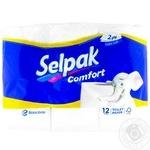 Туалетний папір Selpak двошаровий 12 рулонов