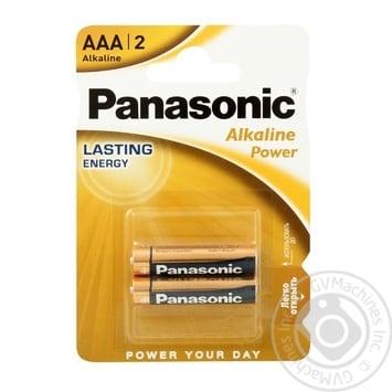 Panasonic Battery LR03 Alkaline Power ААА 2pcs - buy, prices for EKO Market - photo 1