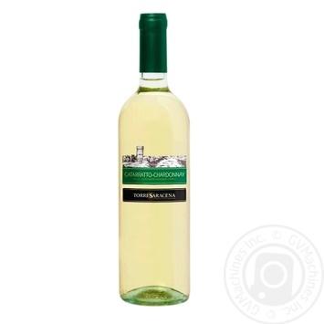 Вино Torre Saracena Cataratto-Chardonnay біле сухе 750мл - купити, ціни на МегаМаркет - фото 1