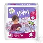 Підгузники Happy Junior 12-25 кг 10 шт Польща