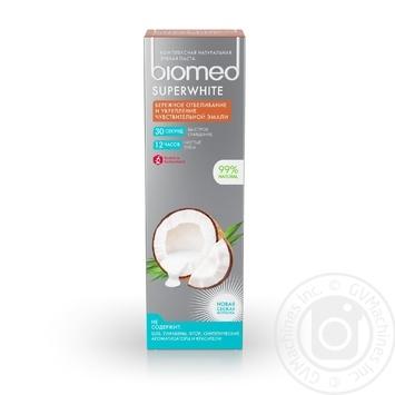 Зубна паста BioMed Superwhite захист від бактерій та карієсу 100мл - купити, ціни на ЕКО Маркет - фото 4