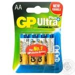 GP Ultra Plus Batteries LR6 AA 4pc