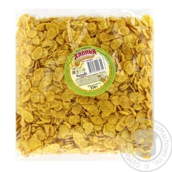 Хлопья кукурузные Витьба Золотистые без сахара 330г - купить, цены на МегаМаркет - фото 1