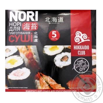 Водоросли Hokkaido Сlub нори сушеные 5шт - купить, цены на МегаМаркет - фото 1