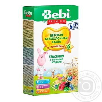 Bebi Dairy Free Oatmeal With Wild Berries For Babies From 6 Month Porridge 200g - buy, prices for Furshet - image 1