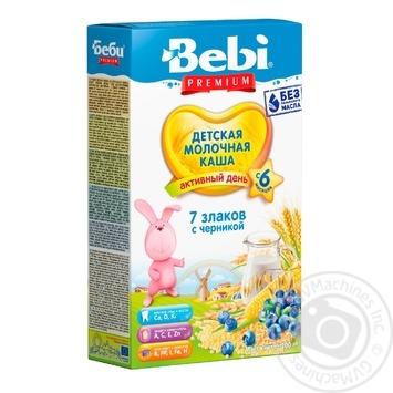 Каша Bebi Premium 7 злаків з чорницею 200г - купити, ціни на Фуршет - фото 1