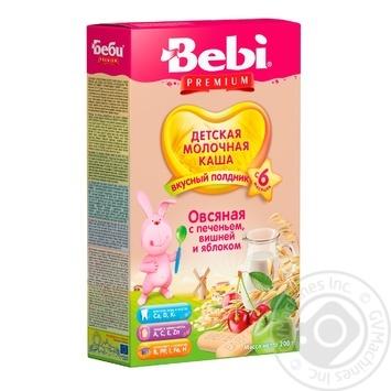 Каша молочная Bebi Premium для полдника овсяная с печеньем вишней и яблоком 200г - купить, цены на МегаМаркет - фото 1