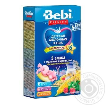 Bebi Premium For Children From 6 Months Three Cereals With Raspberry-Melissa Milk Pap 200g