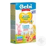 Каша Bebi Premium 5 злаков абрикос и малина 200г