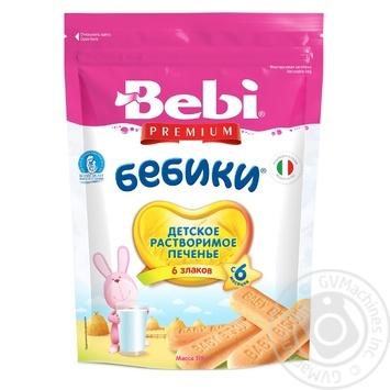 Печиво Бебі Преміум Бебіки 6 злаків 125г - купити, ціни на Фуршет - фото 1