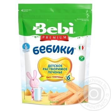 Печенье Bebi Premium Бебики детское без глютена 170г - купить, цены на МегаМаркет - фото 1