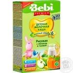 Каша молочная Bebi Premium рисовая с яблоком и тыквой 200г