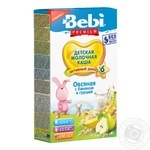 Bebi Premium For Children From 6 Months With Banana And Pear Oat Milk Porridge 200g