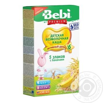 Каша Bebi Premium безмолочна 5 злаків з бананами 200г - купити, ціни на Novus - фото 1