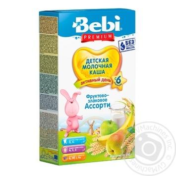 Каша Bebi Premium фруктово-злаковое ассорти 250г - купить, цены на МегаМаркет - фото 1