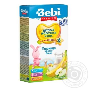Каша дитяча Бебі Преміум Пшениця Яблуко Банан молочна суха швидкорозчинна збагачена вітамінами і мінералами 7-8 порцій з 6 місяців 250г - купити, ціни на Фуршет - фото 1