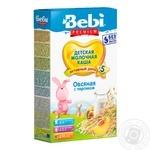 Dry instant milk porridge Bebi Premium oatmeal with peach for 5+ month babies 8-9 portions 250g