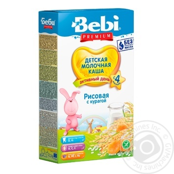 Каша дитяча Бебі Курага рисова молочна суха швидкорозчинна 8-9 порцій з 4 місяців 250г - купити, ціни на Novus - фото 1