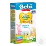 Dry instant rice milk porridge Bebi Apple for 4+ month old babies 7-8 portions 250g
