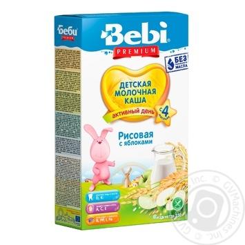 Каша детская Беби Яблоко рисовая молочная сухая быстрорастворимая 7-8 порций с 4 месяцев 250г - купить, цены на Novus - фото 1