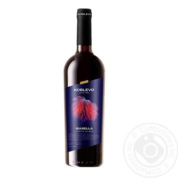 Вино красное Коблево Изабелла виноградное ординарное крепленое десертное сладкое 16% стеклянная бутылка 750мл Украина