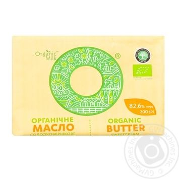 Organic Milk Sweet-Cream Extra Butter 200g - buy, prices for Novus - image 1