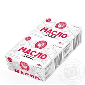 Масло Радивилівмолоко Селянське солодковершкове 72,5% 200г - buy, prices for Auchan - photo 1