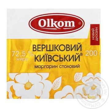 Маргарин Олком Сливочный Киевский 72.5% 200г