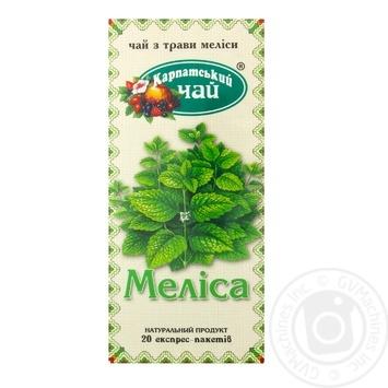 Трав'яний чай Карпатський Чай Меліса в пакетиках 20х1.35г - купити, ціни на Novus - фото 1