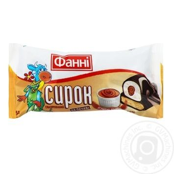 Cottage cheese Chudo with condensed milk in chocolate glaze on a cookie 15% 50g - buy, prices for Furshet - image 1