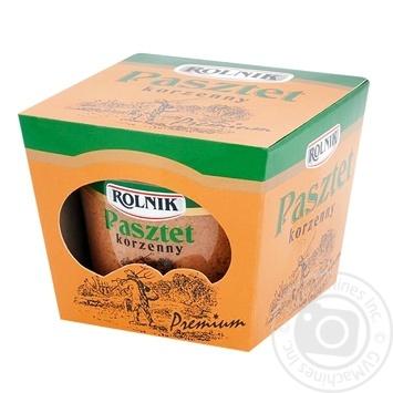 Паштет Rolnik Premium пряный 190г - купить, цены на Фуршет - фото 1