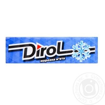 Жевательная резинка Dirol морозная мята 13.6г - купить, цены на ЕКО Маркет - фото 1