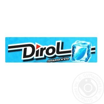 Жувальна гумка Dirol Льодяна м'ята 14г - купити, ціни на МегаМаркет - фото 1