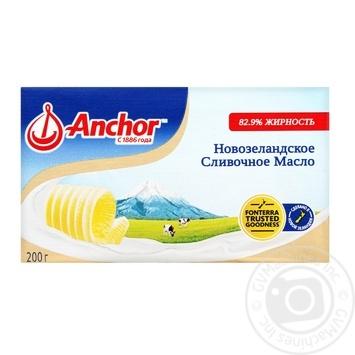 Масло Аnchor сладкосливочное несоленое 82,9% 200г - купить, цены на Метро - фото 1