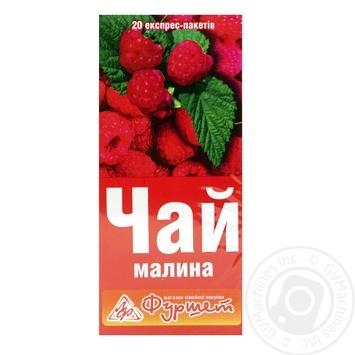 Чай Фуршет Малина из плодов и трав в пакетиках 20х2г Украина - купить, цены на Фуршет - фото 1