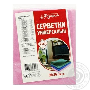 Серветки універсальні Фуршет 3шт - купить, цены на Фуршет - фото 1
