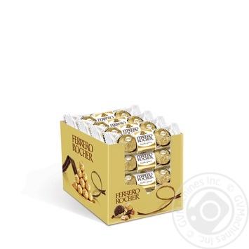 Конфеты вафельные Ferrero Rocher хрустящие 37.5г - купить, цены на Восторг - фото 3