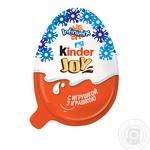 Яйцо Kinder Joy Классический с двухслойной пастой на основе молока и какао и вафельными шариками покрытыми какао с молочным кремом внутри и с игрушкой 20г