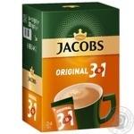 Напиток кофейный Jacobs 3в1 Original в стиках 24*12г