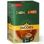 Напиток кофейный Jacobs 3в1 Карамель растворимый в стиках 24*15г