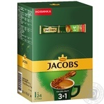 Напиток кофейный Jacobs 3в1 Лесной орех растворимый в стиках 24*15г
