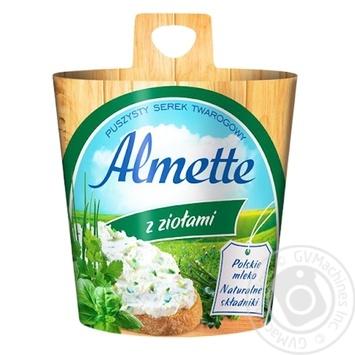 Сир творожний Хохланд Альметте з травами 60% 150г Польща