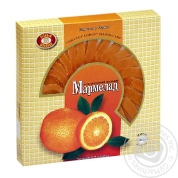 Мармелад ХБФ Бисквит-Шоколад Апельсиновые дольки 265г - купить, цены на Фуршет - фото 1