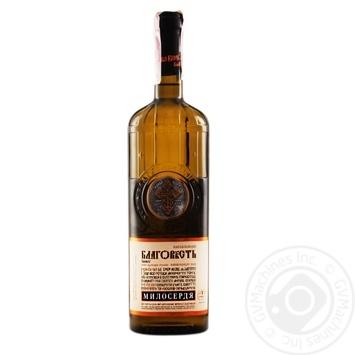 Вино Милосердие Таирово Благовест белое полусладкое 0.7л