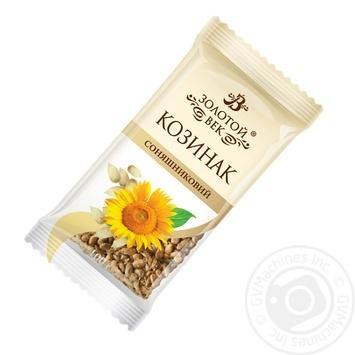 Козинак Золотий Вік соняшниковий 70г - купити, ціни на Ашан - фото 1