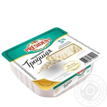 Сир Президент Творожна традиція кисломолочний 5% 200г