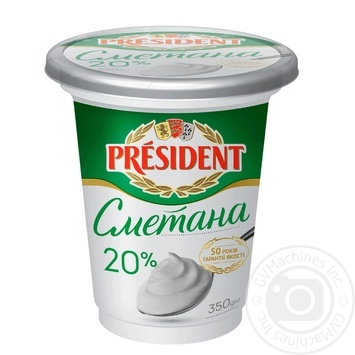 Сметана President 20% 350г - купити, ціни на Метро - фото 1