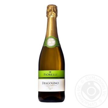 Вино игристое Fiorelli Fragolino Bianco белое полусладкое 7% 0,75л - купить, цены на Ашан - фото 1