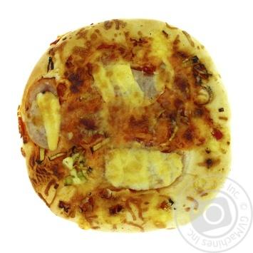 Пицца с ветчиной, луком порей и болгарским перцем 200г - купить, цены на Фуршет - фото 1